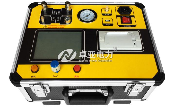 全自动SF6气体密度继电器测试仪  - 操作面板