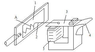 电磁振荡器测速原理示意图