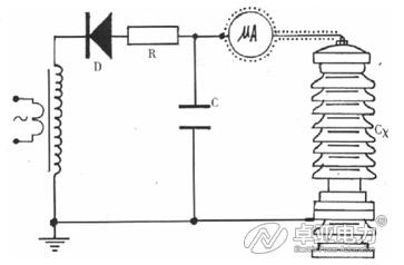 微安表接入试品CX高压侧接线图