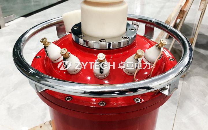 充气式试验变压器试验现场