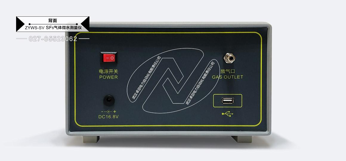 SF6微水测试仪 - 背面